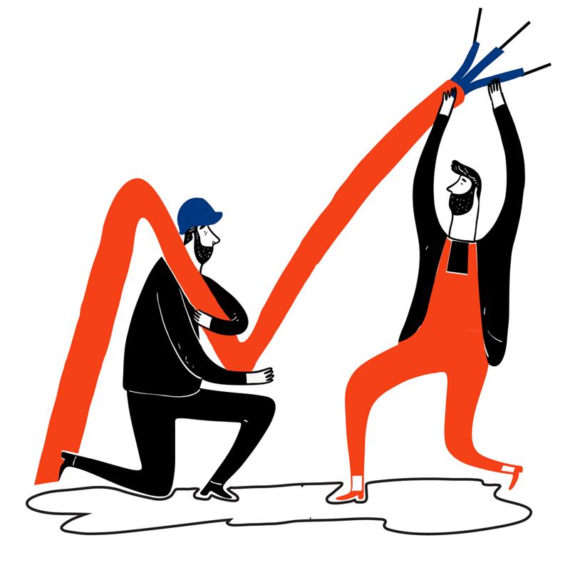 Jakob Kowner AG Ilustrationen Elektroinstallationen Stark und Schwachstrom