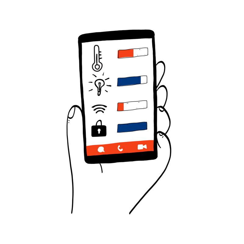 Jakob Kowner AG Ilustrationen ICT Privatkunden Smart Home